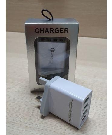 Quick Charge 3.0 and 3 Port USB Fast Charging Adapter