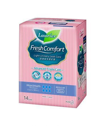 Laurier Fresh Comfort Light Urinary Leak Care Pads - 180cc (29cm) 14s