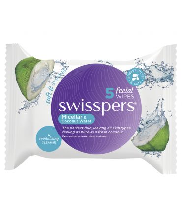 SWISSPERS Facial Wipes Micellar & Coconut Water 5'S