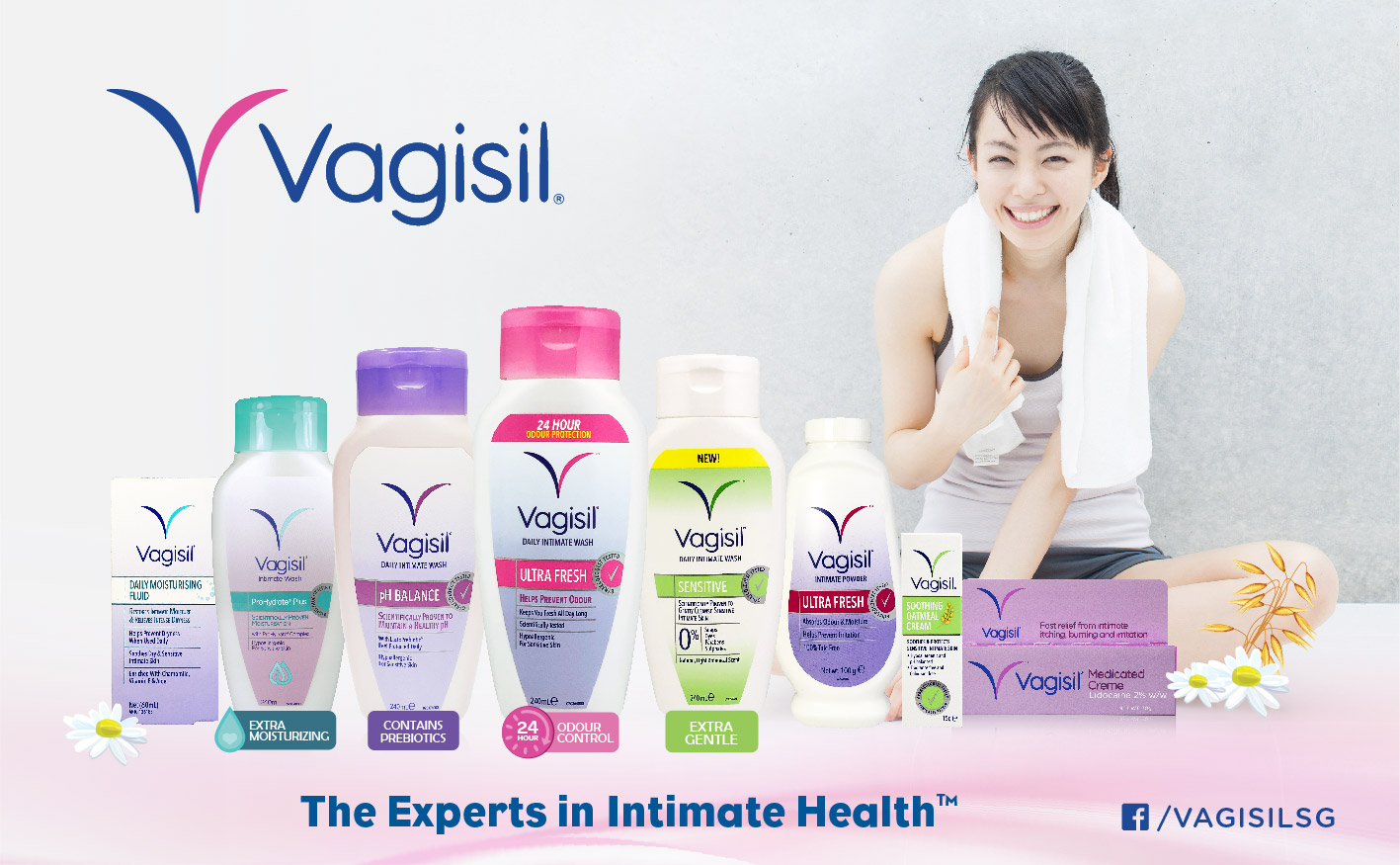 Enjoy one-time 20% off Vagisil products