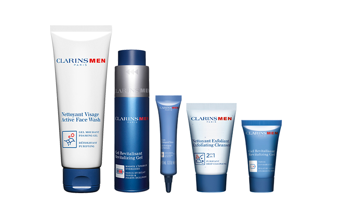 ClarinsMen Essentials Set at $122 (u.p $187)