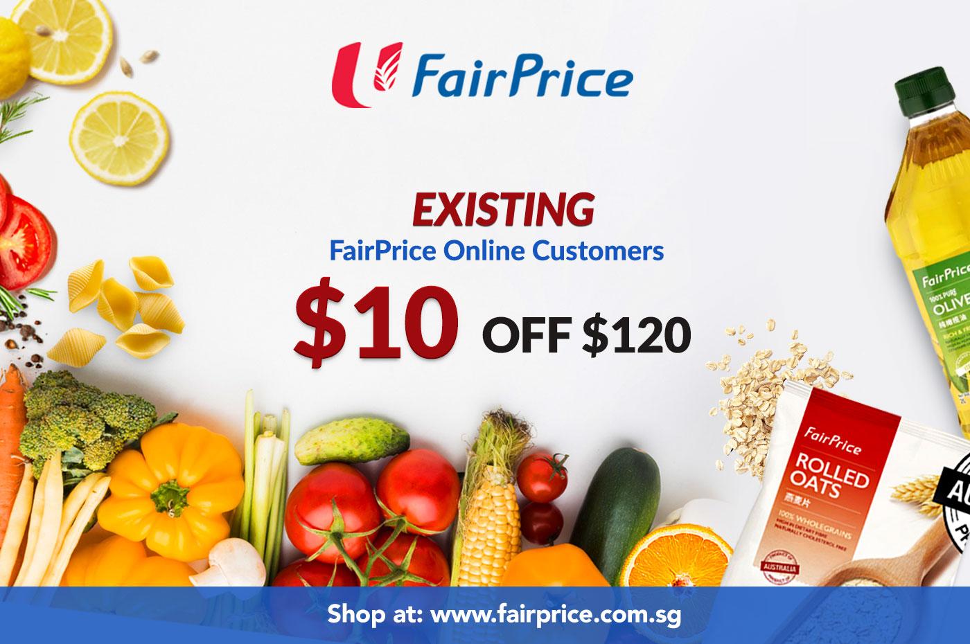 Enjoy $10 off storewide at FairPrice Online