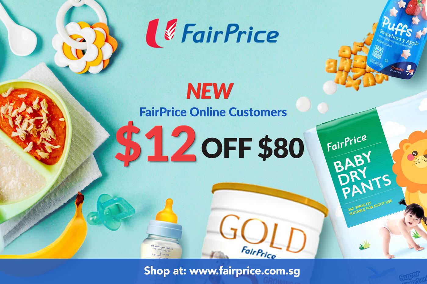 Enjoy $12 off storewide at FairPrice Online (New Users)